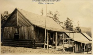 a classic Maine sporting camp cabin in 1906