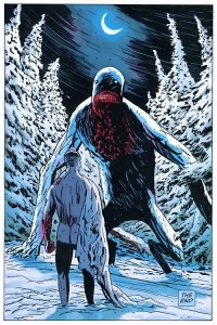 Wabanaki Wendigo or Kiwakwa - Evil spirit of the winter Snow Moon