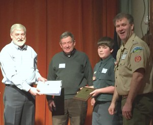 Teddy Roosevelt Maine Conservation Award Presented to the Katahdin Area Council